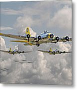 B17 486th Bomb Group Metal Print by Pat Speirs