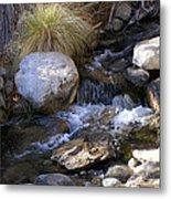 Babbling Brook Metal Print by Barbara Snyder