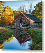 Back Of The Grist Mill Metal Print by Michael Blanchette