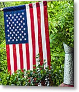 Back Porch Americana Metal Print by Carolyn Marshall