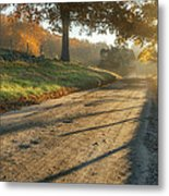 Back Road Morning Metal Print by Bill Wakeley