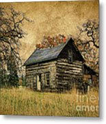 Backwoods Cabin Metal Print by Steve McKinzie