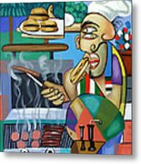 Backyard Chef Metal Print by Anthony Falbo
