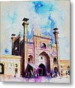 Badshahi Mosque Gate Metal Print by Catf