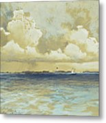 Bahama Island Light Metal Print by Thomas Moran