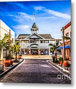 Balboa Main Street In Newport Beach Picture Metal Print by Paul Velgos