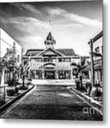 Balboa Pavilion Newport Beach Black And White Picture Metal Print by Paul Velgos