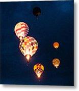 Balloon Glow Metal Print by Linda Pulvermacher