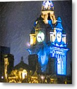 Balmoral Clock Tower On Princes Street In Edinburgh Metal Print by Mark E Tisdale