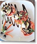 Balsamic Salad Metal Print by Donna Wilson
