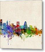 Baltimore Maryland Skyline Metal Print by Michael Tompsett