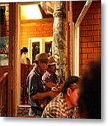 Band At Palaad Tawanron Restaurant - Chiang Mai Thailand - 01135 Metal Print by DC Photographer