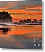 Bandon Orange Pastels Metal Print by Adam Jewell