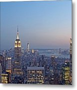 Bank Of America And Empire State Building Metal Print by Juergen Roth