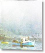 Bar Harbor Maine Foggy Morning Metal Print by Carol Leigh