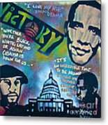 Barack And Common And Kanye Metal Print by Tony B Conscious