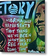 Barack And Fifty Cent Metal Print by Tony B Conscious
