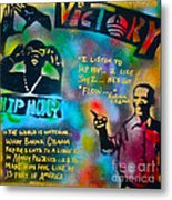 Barack And Jay Z Metal Print by Tony B Conscious