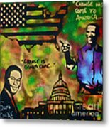 Barack And Sam Cooke Metal Print by Tony B Conscious