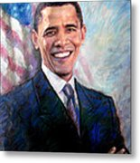 Barack Obama Metal Print by Viola El