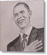 Barack Obama Metal Print by Artistic Indian Nurse