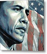 Barack Obama Artwork 2 B Metal Print by Sheraz A