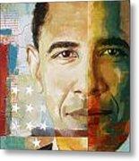 Barack Obama Metal Print by Corporate Art Task Force
