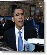 Barack Obama Nyc 4-9-07 Metal Print by Patrick Morgan