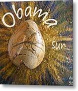 Barack Obama Sun Metal Print by Augusta Stylianou