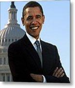 Barack Obama Metal Print by Tilen Hrovatic