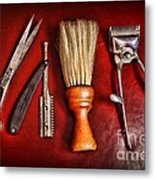 Barber - After The Haircut Metal Print by Paul Ward