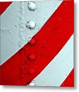 Barber Pole Metal Print by Chris Berry