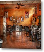 Barber - Union Nj - The Modern Salon  Metal Print by Mike Savad