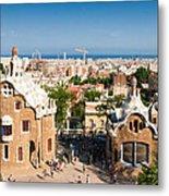 Barcelona Park Guell Antoni Gaudi Metal Print by Matthias Hauser