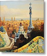 Barcelona Park Guell Metal Print by Kiril Stanchev