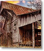 Barn At Sunset Metal Print by Brett Engle