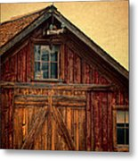 Barn With Weathervane Metal Print by Jill Battaglia