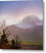 Barns In The Morning Light Metal Print by Debra and Dave Vanderlaan