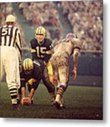 Bart Starr Looks Calm Metal Print by Retro Images Archive