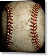 Baseball Seams Metal Print by David Patterson