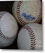 Baseball - The American Pastime Metal Print by Paul Ward