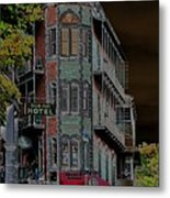 Basin Park Hotel Metal Print by Jan Amiss Photography