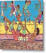 Basketball Daycare Metal Print by Richard Hockett