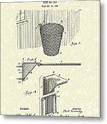 Basketball Hoop 1925 Patent Art Metal Print by Prior Art Design