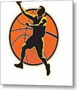 Basketball Player Lay Up Ball Metal Print by Aloysius Patrimonio