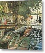 Bathers At La Crenovillere Metal Print by Claude Monet