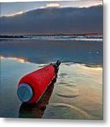 Batter-ed By The Sea Metal Print by Peter Tellone