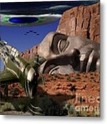 Battle For The Ancient Face Metal Print by Keith Dillon
