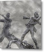 Battle Of Gettysburg 150 Blue And The Gray Metal Print by Randy Steele