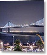 Bay Bridge Grand Lighting Ceremony Metal Print by David Yu